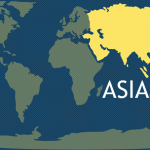 7 Continents - Asia Map