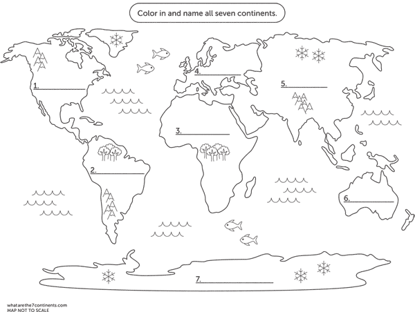 seven continents coloring pages - photo#2