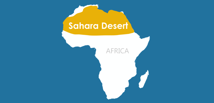 Sahara Desert The Continents Of The World - African desert names