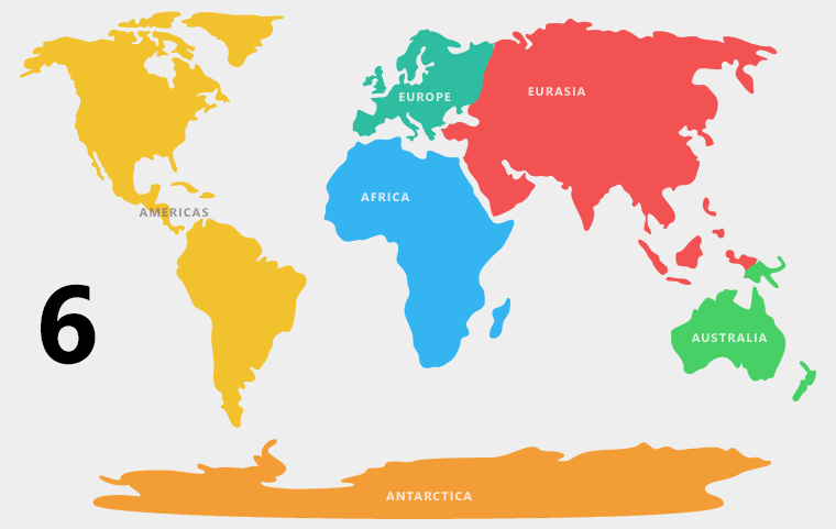 6 Continents Definition - Americas Combined