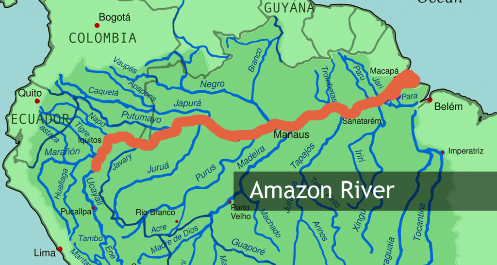 Amazon River - The Largest River in South America